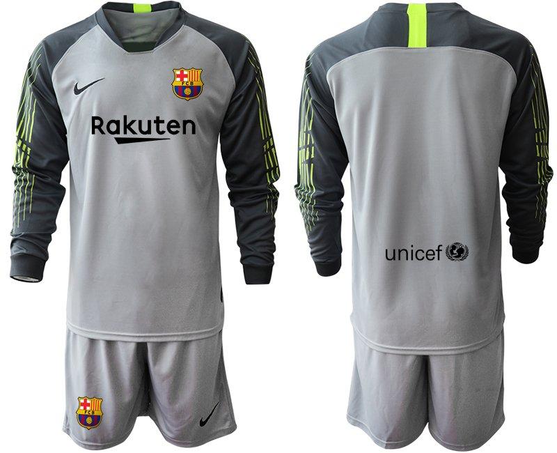 the latest 1e25b 57bfc 2019 2020 Men's Barcelona Goalkeeper Long Sleeves Team Jersey Kits Gray