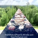 Small Orgone WIFI/EMF Protective Pyramid Fluorite/Agate/Quartz - 4 in
