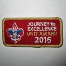 Boy Scouts of America (BSA) 2015 Journey to Excellence JTE Gold Patch - New