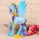 14cm PVC Unicorn Princess Luna Celestia Rainbow Horses Action Figures Kawaii Unicorn