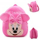 Cute Baby Plush Backpack Cute Cartoon Pink Minni & Mickey the Mouse Plush Bag