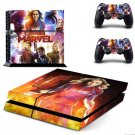 Captain Marvel Skin Vinyl PS4 Sticker Set for Sony Play Station 4 Console and Two Controller Skins