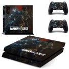 Tom Clancy's Rainbow Six Siege Sticker Set for Sony Playstation 4 PS4 Console and Two Controller