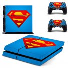 Super Hero: Superman VS Batman Vinyl Decal Protect Film PS4 Sony PlayStation 4 Skins Sticker