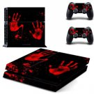 Custom Vinyl Decal Skin Sticker Cover of Red palm for Sony PS4 PlayStation 4 and 2 controller