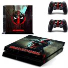 PS4 Skin Decals DeadPool Marvel Stickers For Sony Playstation 4 Console and 2 Controllers