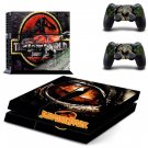 For PS4 Playstation 4 Console Skin Decal Sticker Jurassic Park 2 Controller Skins