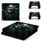 Skull Decal PS4 Sticker PS4 Skin Vinyl Design Skins Kit for Playstation 4 Console and 2 Controllers