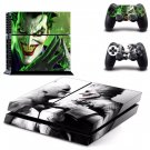 Joker Arkham City and Batman Vinyl Sticker Skin For PS4 PlayStation 4 Console