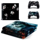 Vinly The Dark Knight Joker Skin Cover Sticker Cover for Sony PS4 PlayStation 4 and 2 controller