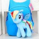Cute 3D My Little Pony Minion Plush Backpack Children's Shoulder Bag Cartoon School Bag
