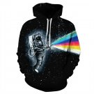 New Listing Direct Sales Astronaut Rainbow Gun Digital Print Long-Sleeved Hooded Jacket