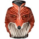New Fashion Sculpture Print Fox/horse/lion Design Hoodies Stylish Drawstring Pullover Sweatshirt