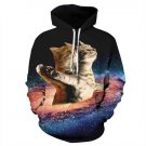 Titanic Cat 3D Print Sweatshirt Women Creative Unisex Hoody Women Spandex Polyester Pullovers
