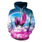 Sunny New 2019 S-XL Sudaderas Sweatshirt 3D Print Rainbow Purple Alpaca Hooded Hoodies