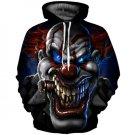 Fashion Hooded Sweatshirt Crazy Clown Print Halloween Hoodies for Women/men Streetwear