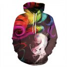 Newest Nine-tailed Fox 3d Print Hooded Sweatshirts Harajuku Loose Work out Sudadera Mujer Thin