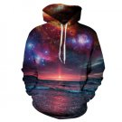 Sunset Galaxy Punk Sweatshirt Women Hooded Hoodies New Fashion Moletom Suit Leisure Tracksuit