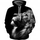 Newest Winter Streetwear Lion Print Sweatshirts Loose Fashion Christmas Hoodies Black Sudadera Mujer