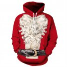 Santa Claus Outwear Coat Red Hoodie Sweatshirts Casual Men/Women Polyester/Spandex Autumn Tracksuits