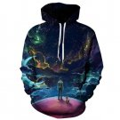 Harajuku 3D Printed Hooded Sweatshirts Space Design High Quality Colorful Couple Hoodies
