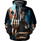 Newest 3D Print Loose Hoodies Women Playing Card Skull Strange Thing Moletom Autumn Winter
