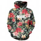 Flower Print Retro Sweatshirt Women Full Sleeves O-neck Hooded Moletom Feminino Hoodies