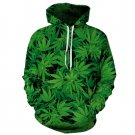 Green Leaf Sweatshirt MR MRS Hooded Hoodies Spandex Leisure Joggers Femme Plus Size