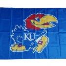 NCAA Kansas Jayhawks Team polyester Flag banner 3ft*5ft