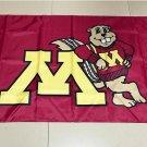 NCAA Minnesota Golden Gophers polyester Flag banner 3ft*5ft