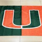 NCAA Miami Hurricanes Team polyester Flag banner 3ft*5ft