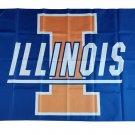 Illinois Fighting Illini polyester Flag banner 3ft*5ft