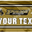 NCAA Purdue Boilermakers Your Text Flag banner 3ft*5ft