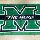 Flag of NCAA Marshall Thundering Herd polyester Flag banner 3ft*5ft