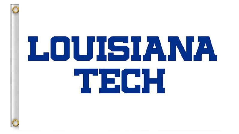 Flag of NCAA Louisiana Tech Bulldogs and Lady Techsters Flag banner 3ft*5ft