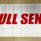 White Background Red Full Send Flag banner 3ft*5ft