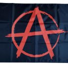 Anarchy Anarchist Symbol Red A With Circle On Black Flag banner 3ft*5ft