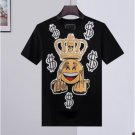 designer Man T-shirt Skull Summer Basic Solid crystal print letter dollar brand Casual Punk tops