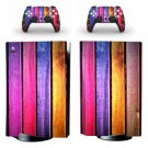 Wood Style PS5 Standard Disc Skin Sticker Decal Cover for PlayStation 5