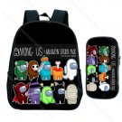 Among Us Backpack with Pencil Case 2pcs/set Students School Bags Kids Cute Cartoon Rucksack