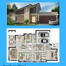 DIY, house plans, (220 m2) 4 Bed Narrow Lot 2 bathrooms 2 parking spaces