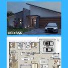 DIY, house plans, (246 m2) 4 Bed + 2 Bath + 2 Car Plan - Preliminary House Plan Set