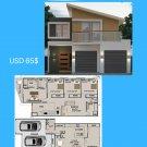 DIY, house plans, (262 m2) 4 Bed + 2 1/2 Bath + 2 Car 2 Storey - Preliminary House Plan Set