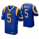 Men Los Angeles Rams #5 Blake Bortles Royal Blue Game Jersey