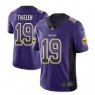 Men's Adam Thielen Minnesota Vikings #19 Drift Fashion Purple Jersey