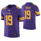 Youth kid Adam Thielen #19 Minnesota Vikings Purple color rush Jersey Home
