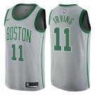 Men's Boston Celtics #11 Kyrie Irving City Series Gray Swingman Jersey