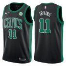 Men's Boston Celtics #11 Kyrie Irving Statement Black Swingman Jersey