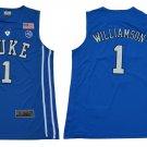 Men's Duke Blue Devils #1 Zion Williamson NCAA Blue Jersey