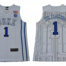 Men's Zion Williamson Jersey Duke College White Basketball Jersey Decorative pattern